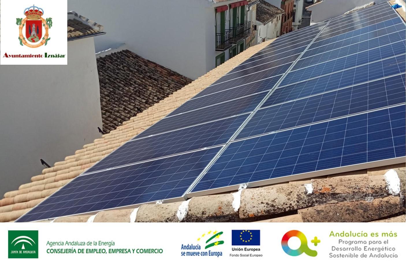 Subvención instalaciones de energía solar fotovoltaica para el Ayuntamiento de Iznájar