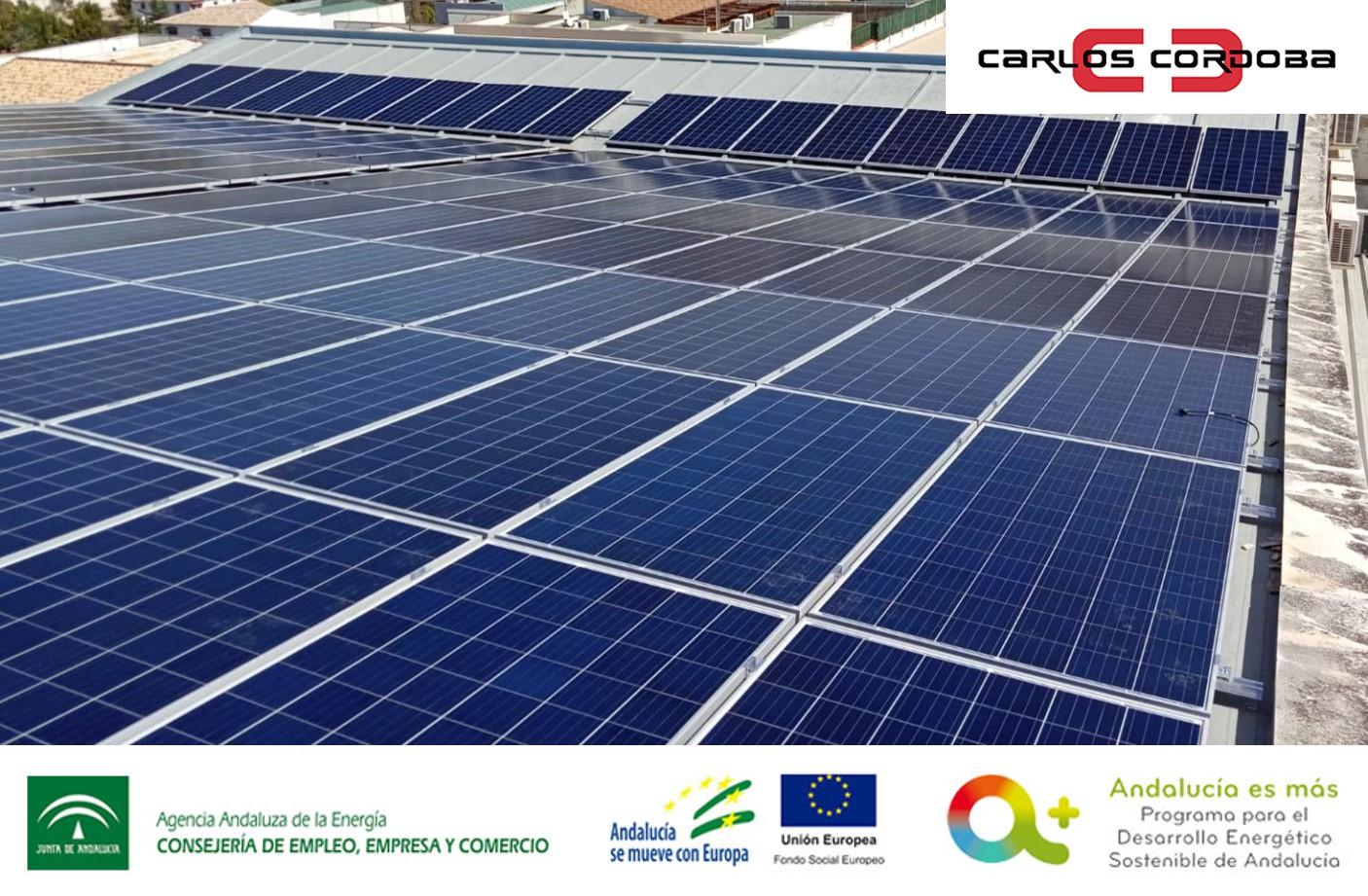 Subvención instalaciones de energía solar fotovoltaica para Confecciones Carlos Córdoba, S.L.