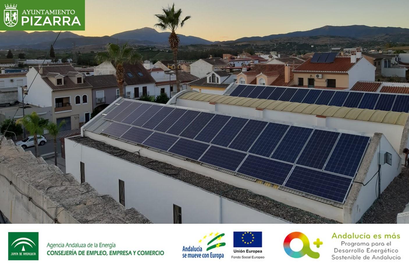 Subvención instalaciones de energía solar fotovoltaica para el Ayuntamiento de Pizarra